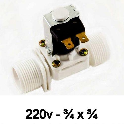 Válvula Solenoide 220v AC 180° (3/4 X 3/4) VA 04
