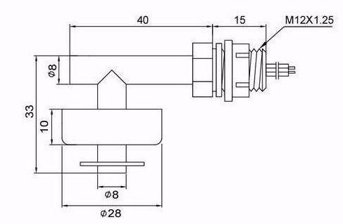 Sensor de Nivel Lateral Bóia de Água