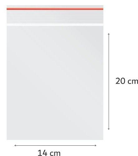 100 x Saco Plástico Zip Lock Hermético 20 x 14 cm Nº 7