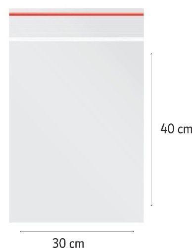 100 x Saco Plástico Zip Lock Hermético 30 x 40 cm Nº  11