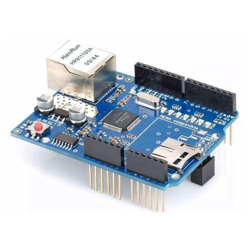 Shield Ethernet W5100 com Slot para SD Card