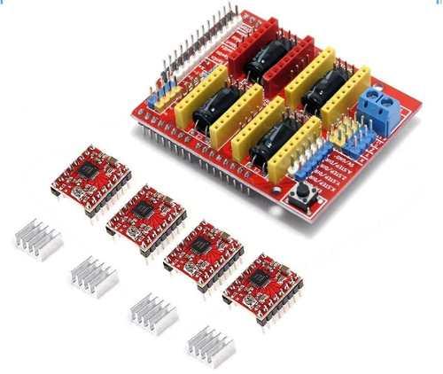 Shield CNC Arduino V3 + 4x A4988 + 4x Dissipadores