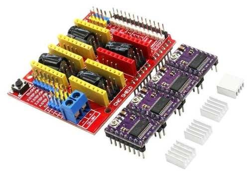 Shield CNC Arduino V3 + 4x DRV8825 + 4x Dissipadores