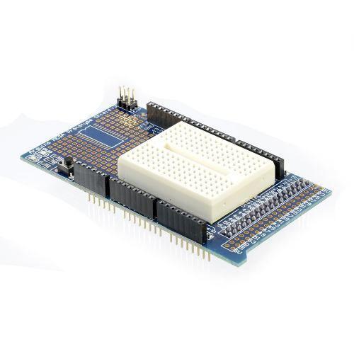 Proto Shield compatível com Arduino Mega + Mini Protoboard 170 Furos