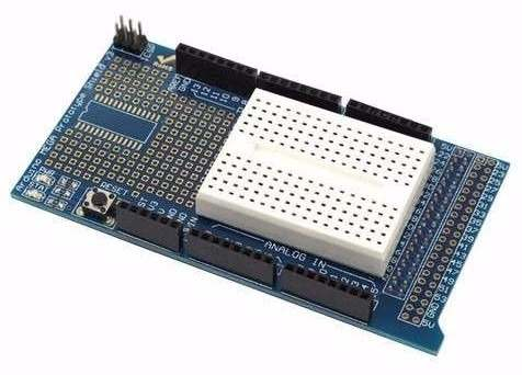 Proto Shield para Arduino Mega + Mini Protoboard 170 Furos