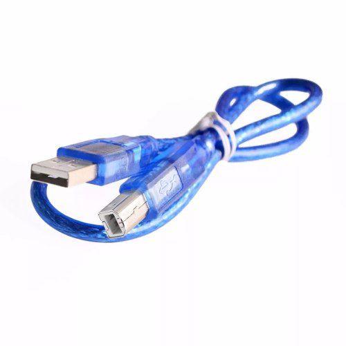 Cabo USB Tipo A - B Compatível com Arduino Uno / Mega