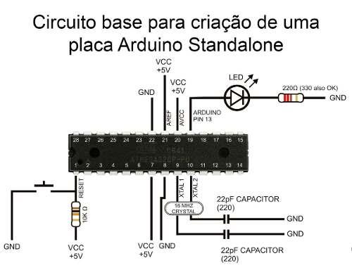Microcontrolador Atmega328 P Pu | CI Chip compatível com Arduino Uno DIP28