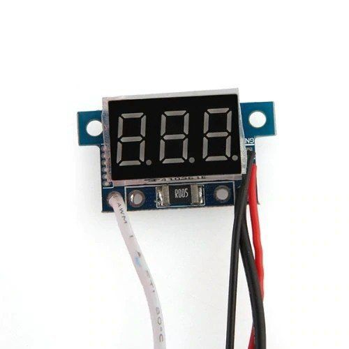 Mini Amperímetro Digital 0 a 5A com Display Indicador Vermelho