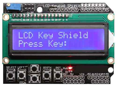 Shield Display 16x02 LCD Keypad com Teclado