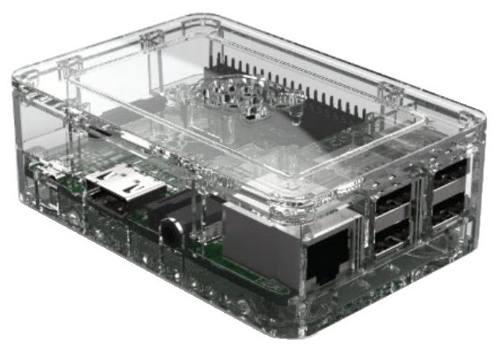 Case Premium de Acrílico Transparente para Raspberry Pi 3