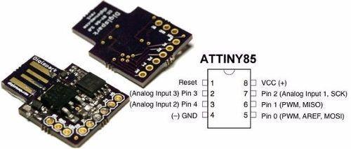 Placa Digispark Attiny85 Attiny 85 USB