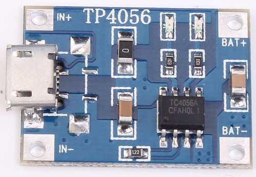 Módulo Carregador de Bateria Lítio 1s TP4056 TC4056