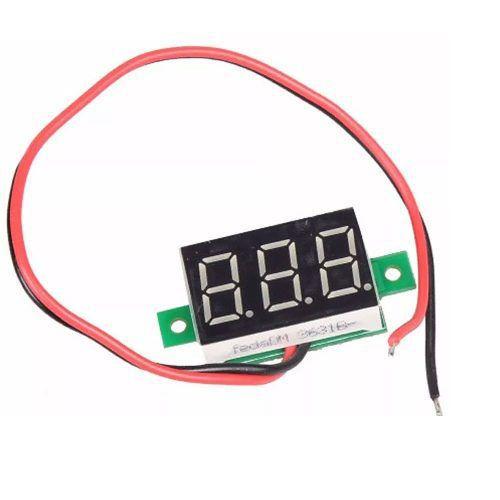 Mini Voltímetro Digital 4.5 a 30v   Display Vermelho