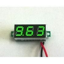 Mini Voltímetro Digital 4.5 a 30v | Display Verde