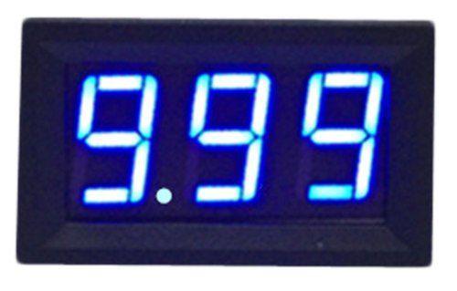 Voltímetro Digital Led Azul 4.5v a 30v