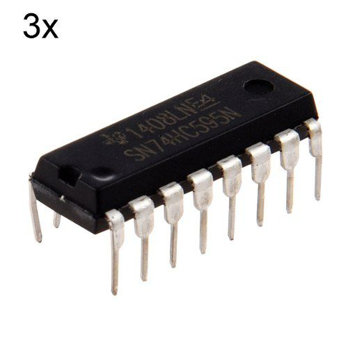 3x Expansor de Portas Arduino, Esp | 74HC595 Shift Register 8bit