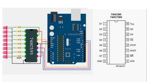 3x Expansor de Portas 74HC595 Shift Register 8bit