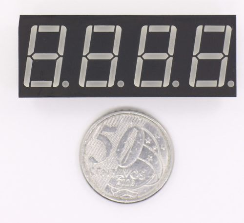 """Display 7 Segmentos 4 Dígitos Vermelho Ânodo Comum 0,56"""""""