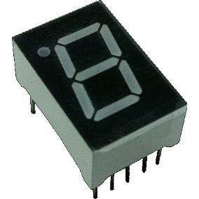 3x Display BCD 7 Segmento 1 Dígito Vermelho Ânodo Comum