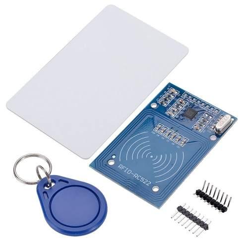 Kit Leitor RFID RC522, Cartão e Tag Mifare 13.56mhz
