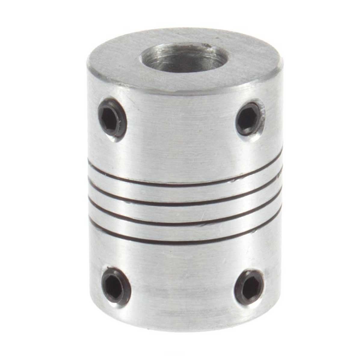 Acoplamento / Acoplador Flexível 5x8mm 19/25mm até 10 Kgf.cm Torque para CNC, Impressora 3D