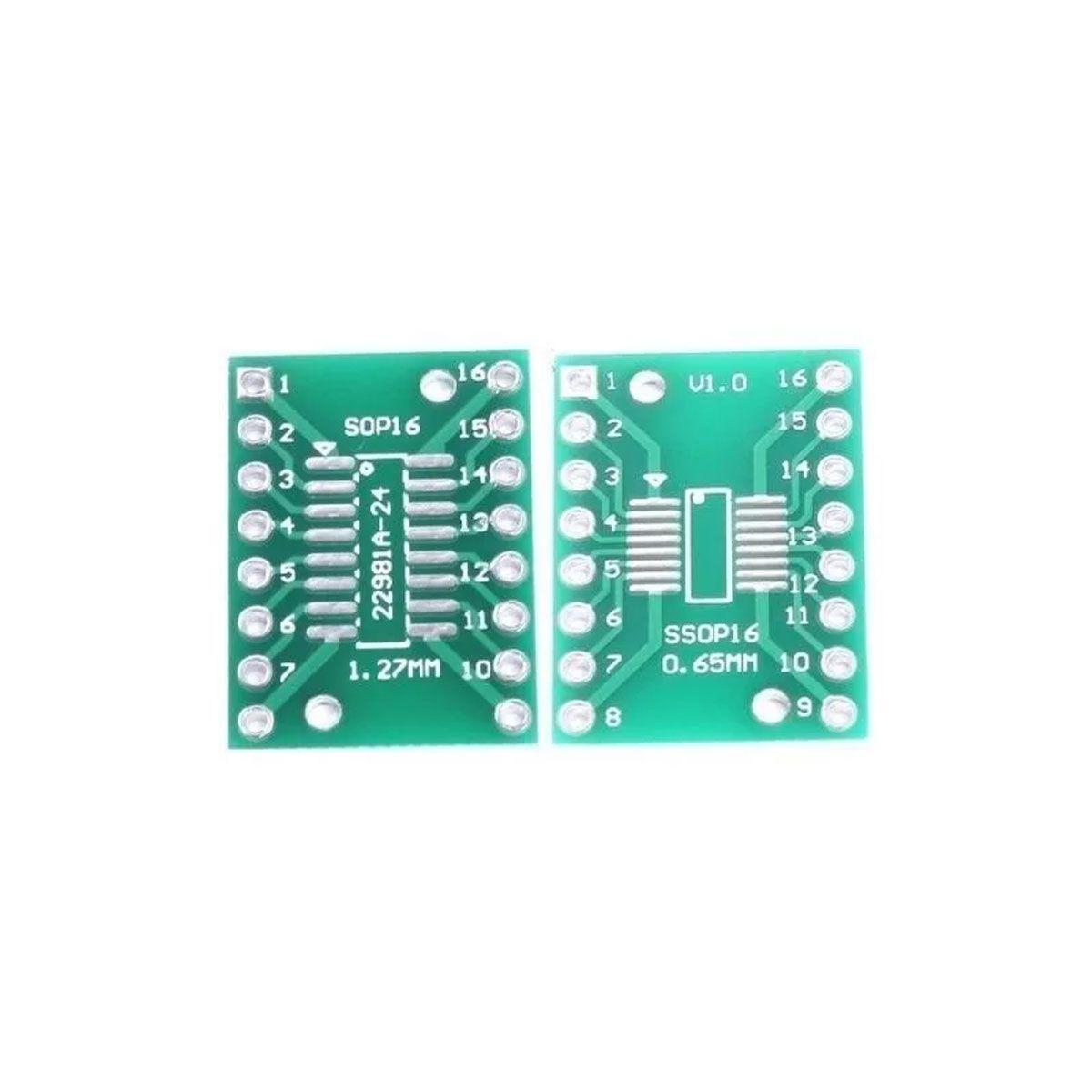 Adaptador de Placa PCB Dip16 / Soic16 So16 Tssop16 - BL