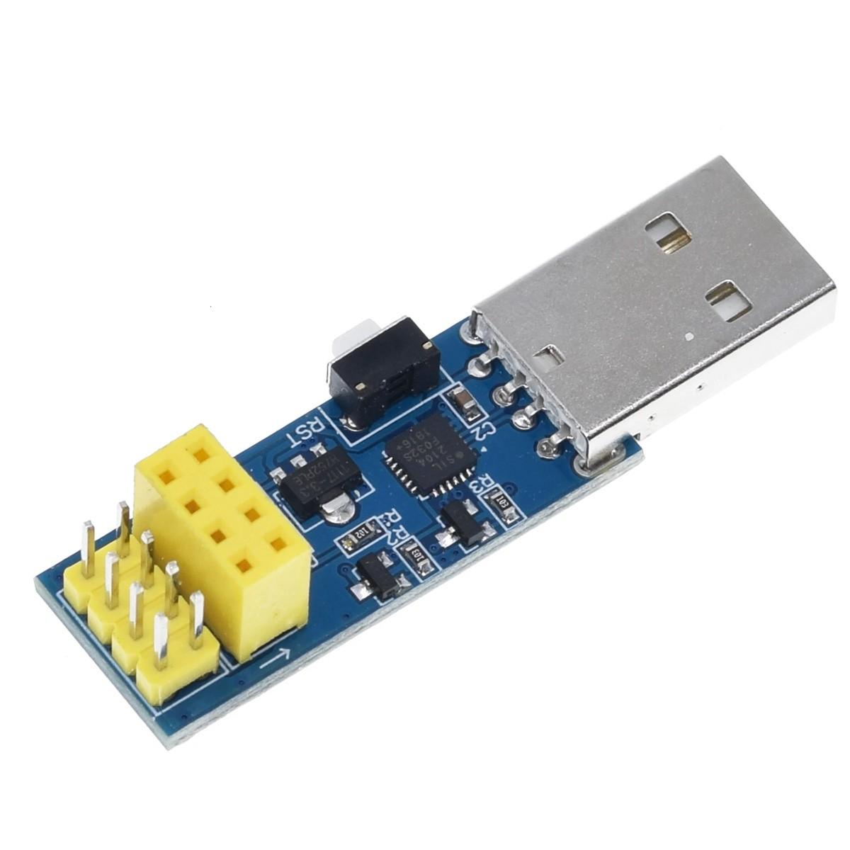 Adaptador Gravador USB para ESP8266 ESP-01 ESP-01S ESP LINK V1.0 com botão