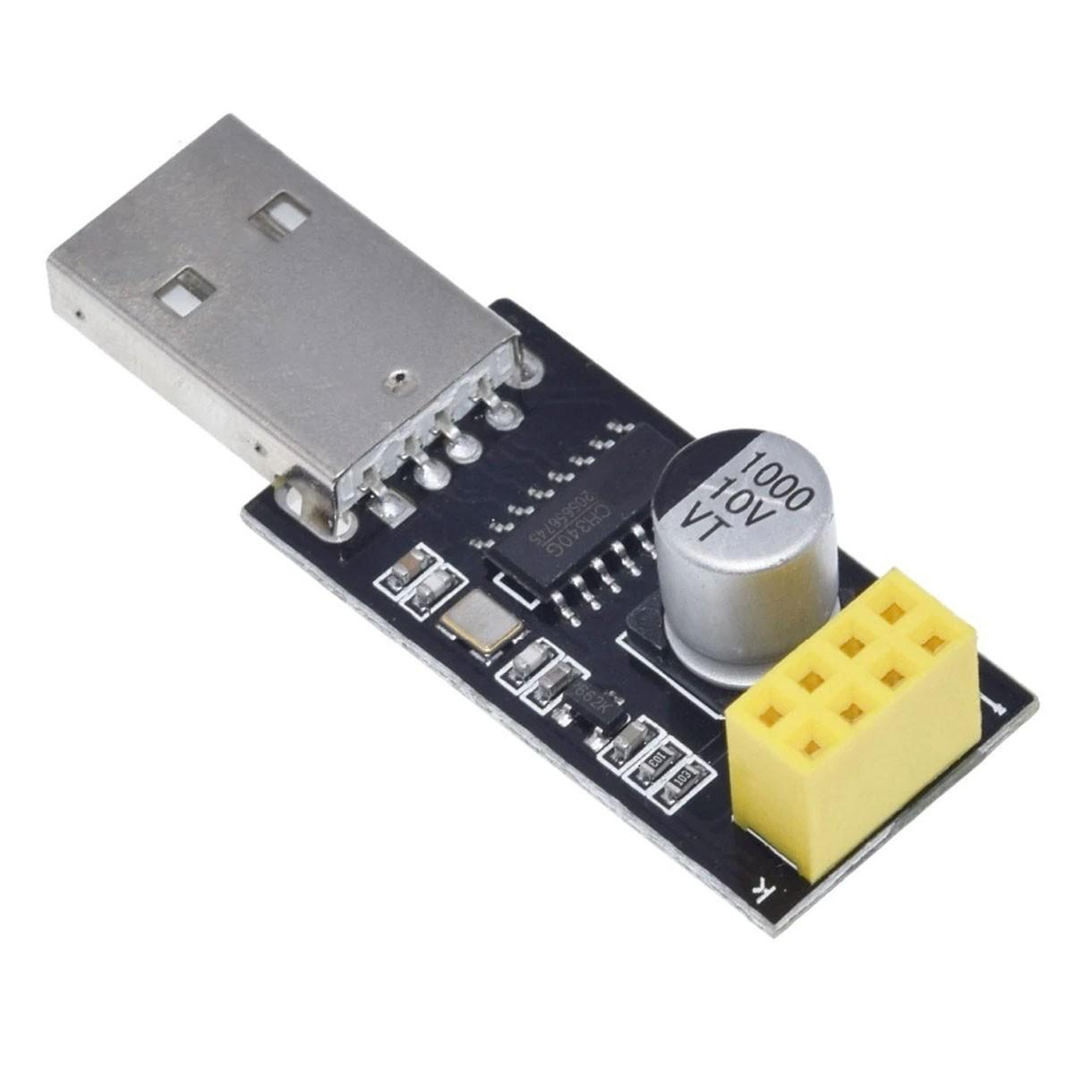Adaptador / Gravador USB Serial para Programar ESP-01 - CH340G