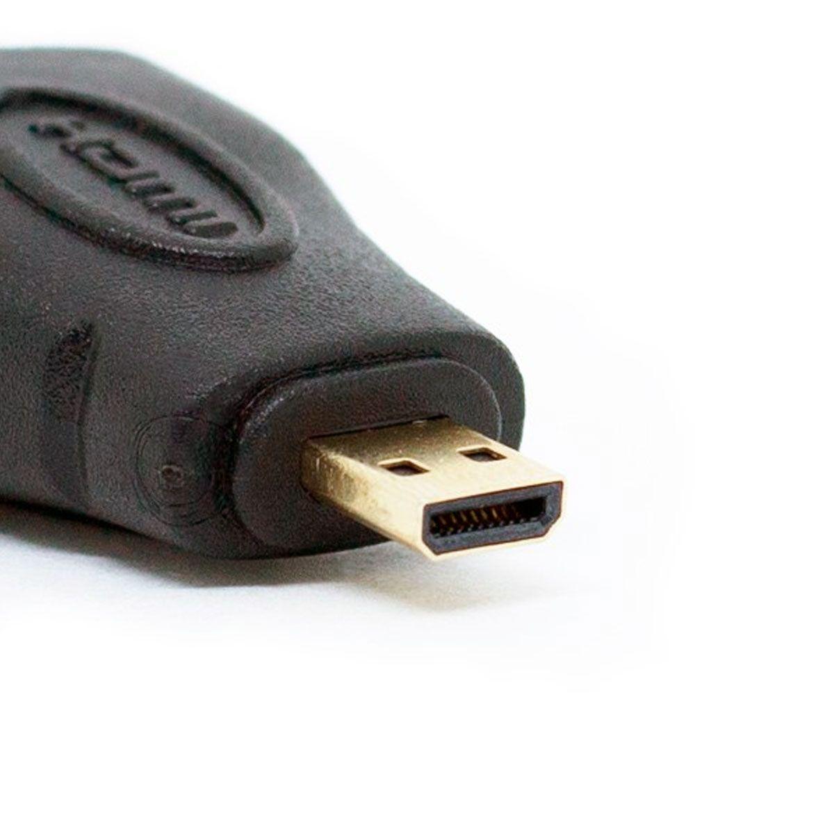 Adaptador HDMI Fêmea para Mini HDMI Macho para Raspberry pi Zero