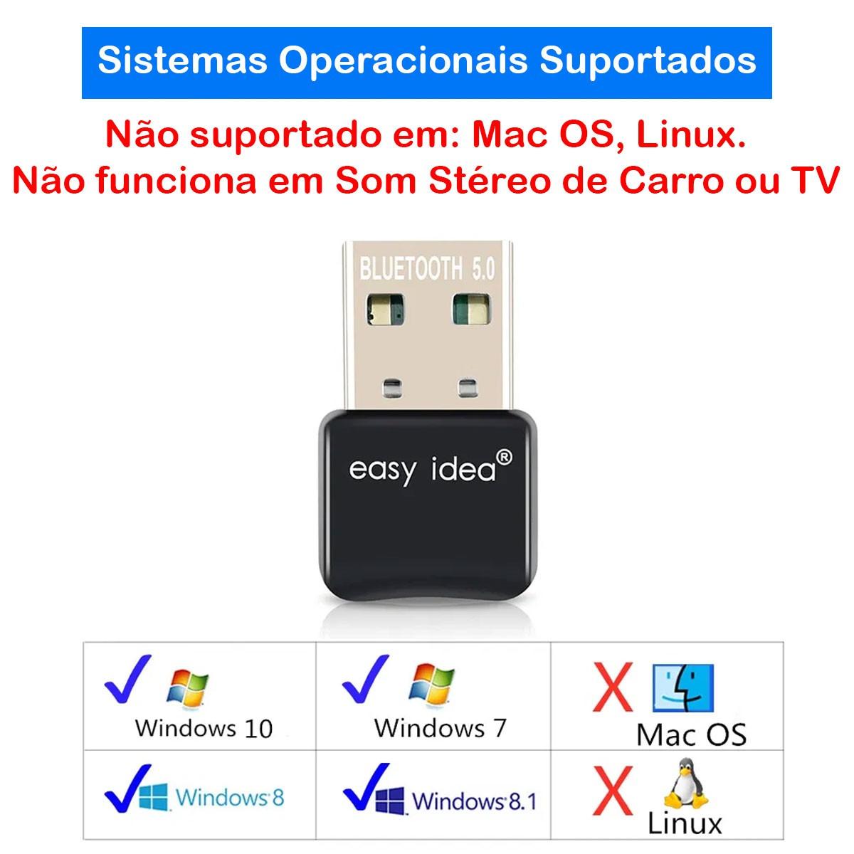 Adaptador Usb Bluetooth 5.0 Dongle Para Pc Notebook EasyIdea