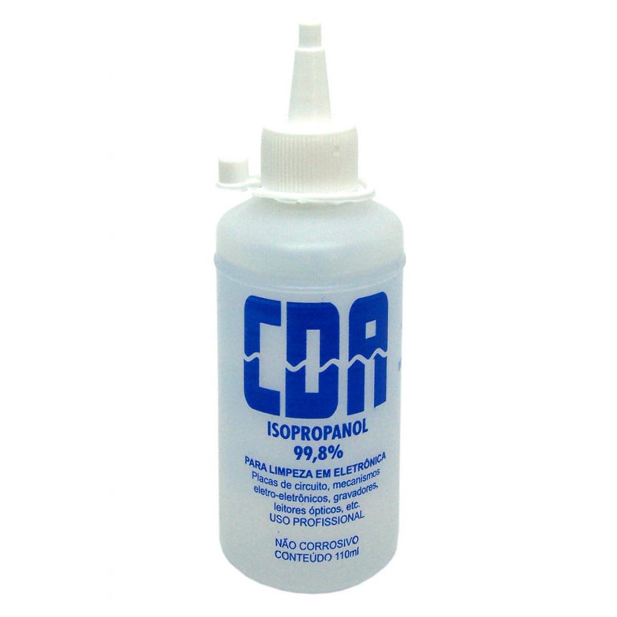 Álcool Isopropílico CDA 110ml para limpeza de Componentes e Placas