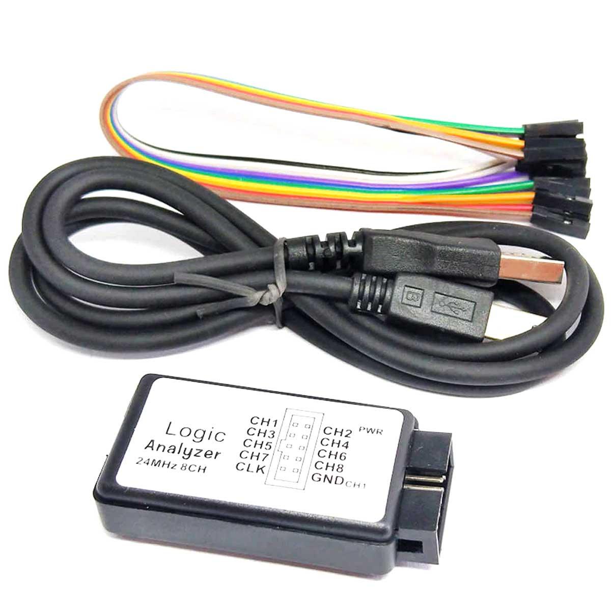 Analisador Lógico 8 Canais com Interface USB - Saleae Logic 8ch