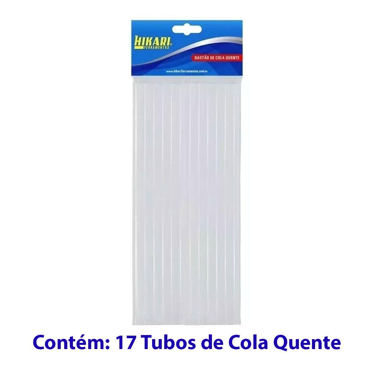 Bastão / Tubo de Cola Quente Grosso 11,2mm x 30cm com 17 unidades - Hikari