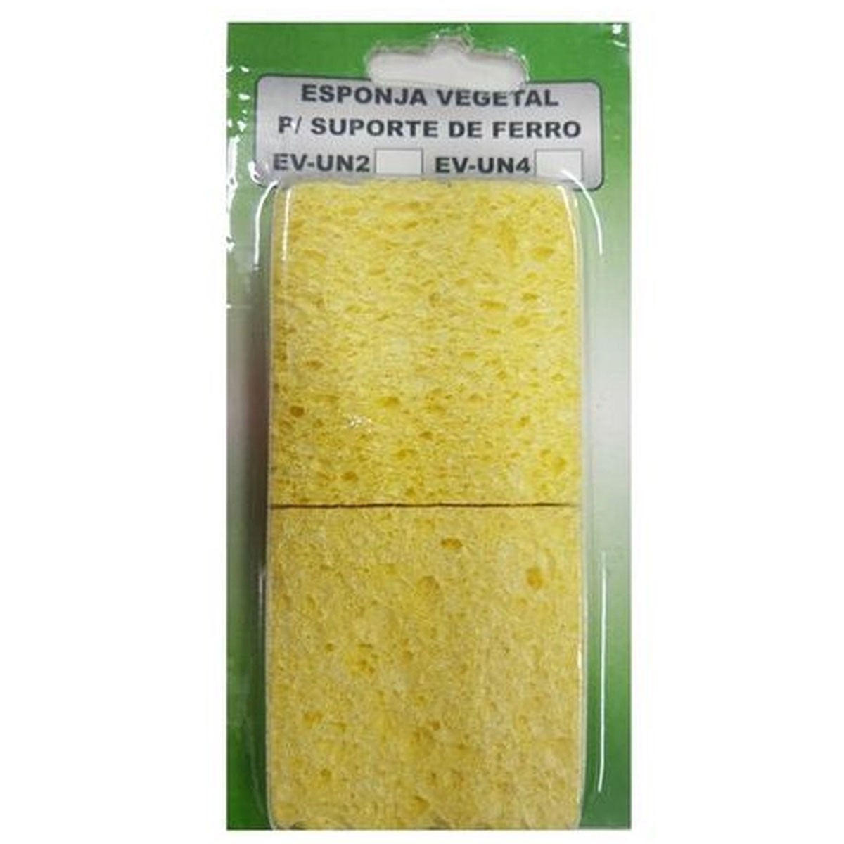 Blister com 4 Unidades de Esponja Vegetal EV-UN4 - Suetoku