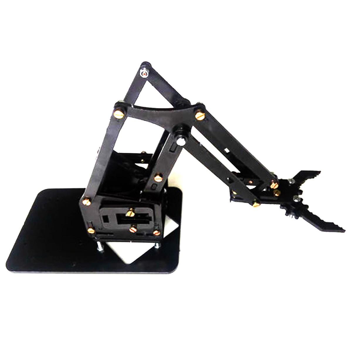 Braço Robótico apenas peças em Acrílico preto com parafusos