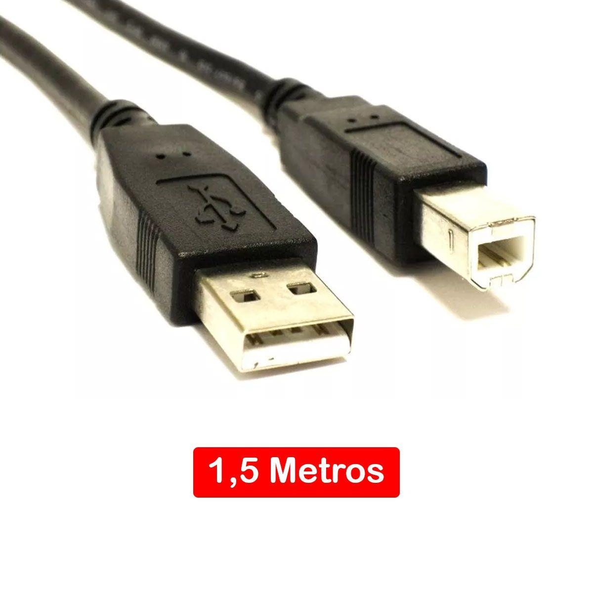Cabo Arduino Uno USB / Mega / Impressora / Scanner - 1,5 metros