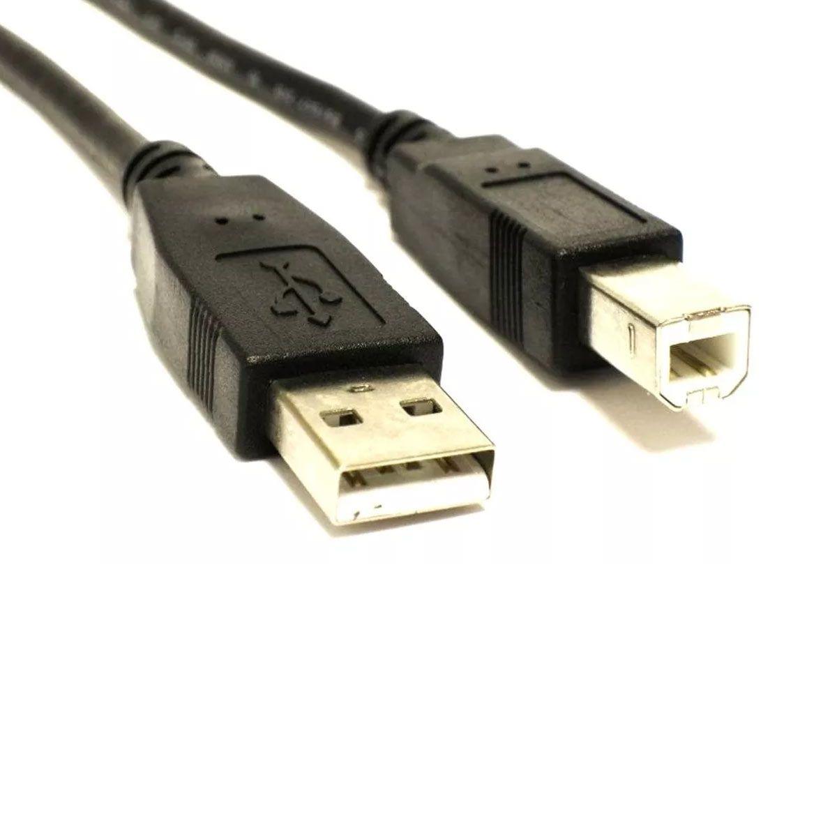 Cabo USB A - B Compatível com Arduino Uno / Mega / Impressora / Scanner - 1,5 metros