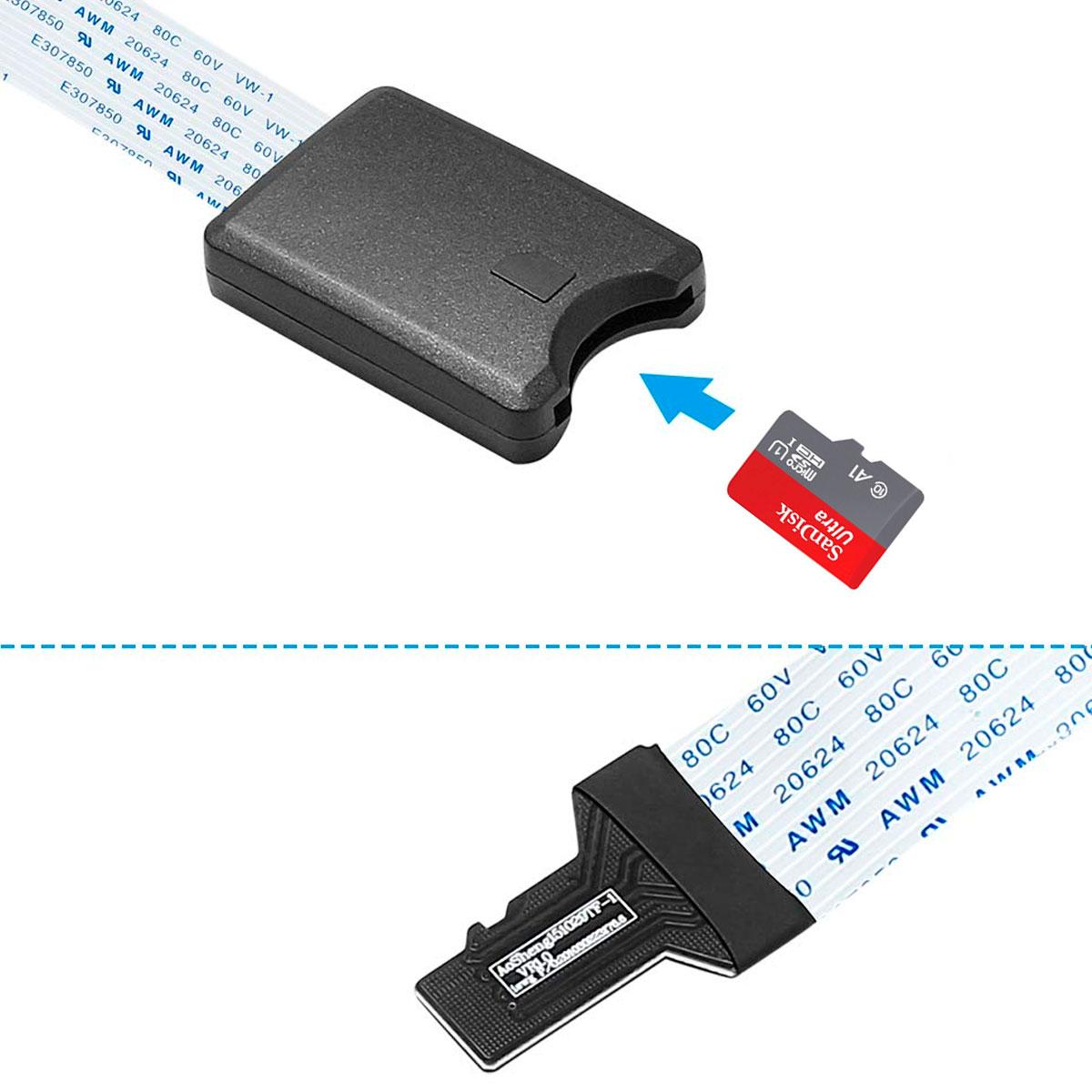 Cabo Extensor de 25cm para Cartão Micro SD para Raspberry, Impressora 3D