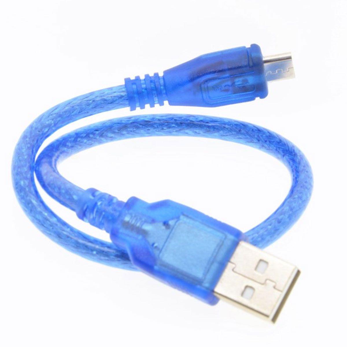 Cabo Micro USB para Nodemcu ESP8266, ESP32, Arduino Leonardo, Yún, Micro, DUE, Raspberry Pi e Digispark