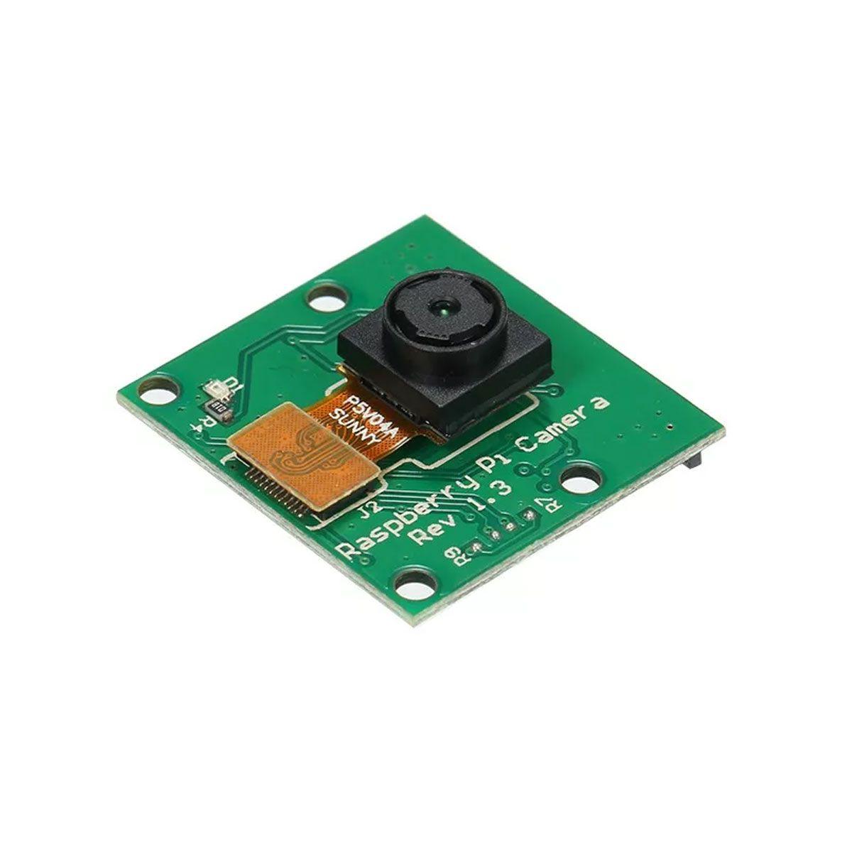 Câmera para Raspberry Pi 4, Pi 3, Pi 2, B+, B, A+ 5MP Conexão CSI V1.3