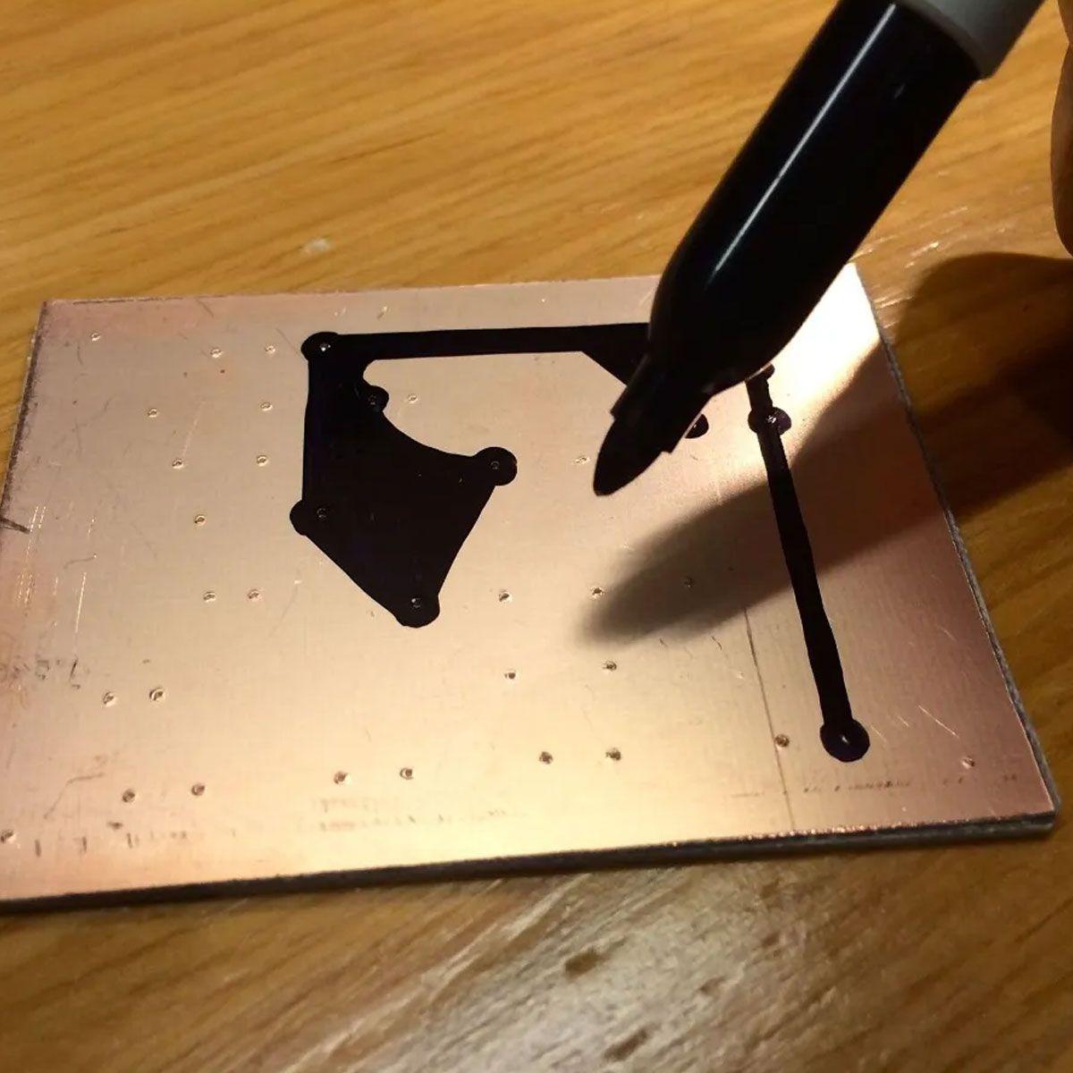 Caneta para Desenhar Trilhas / Circuito Impresso em PCB