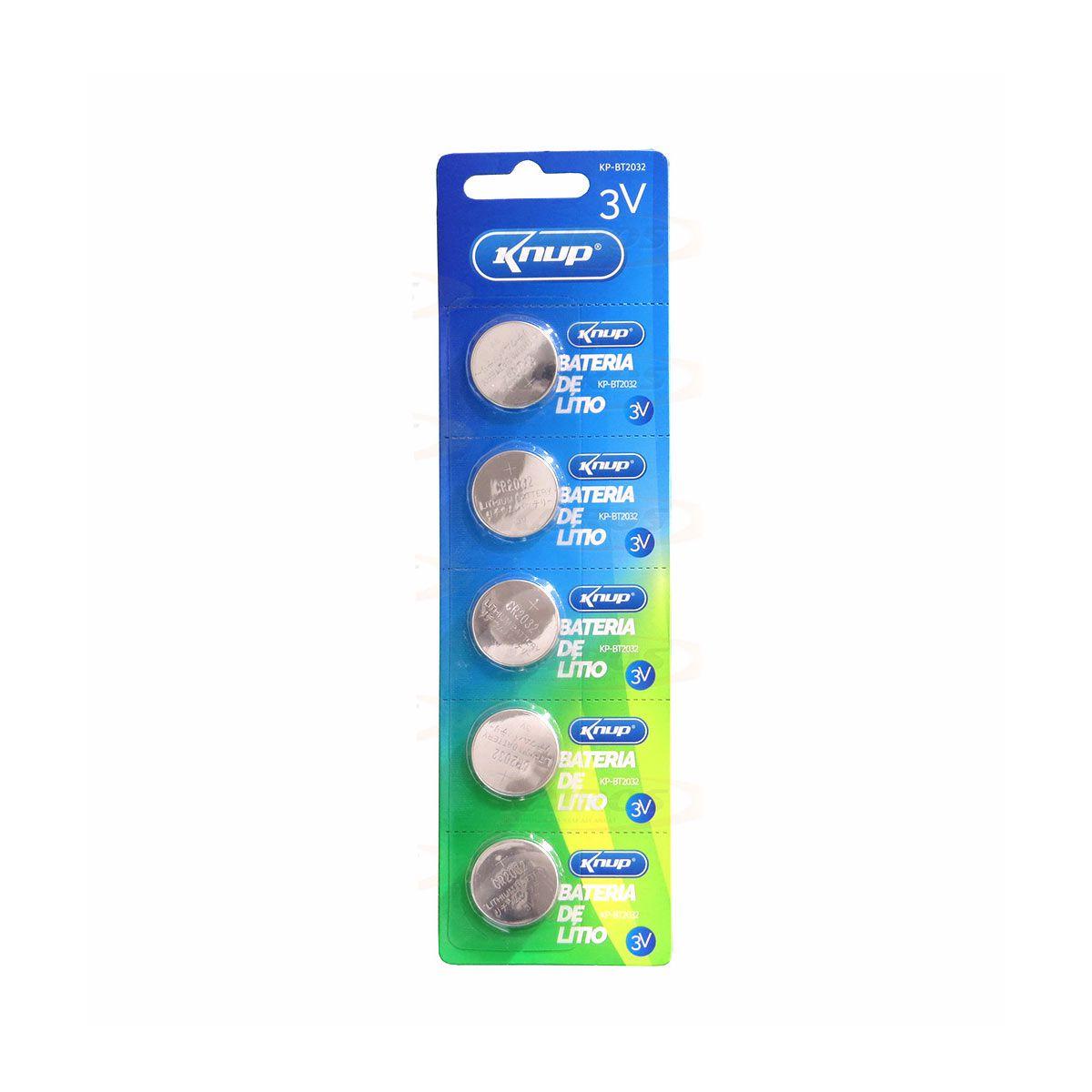 Cartela com 5 Baterias Lítio 3v Cr2032 Rtc Placa Mãe Moeda