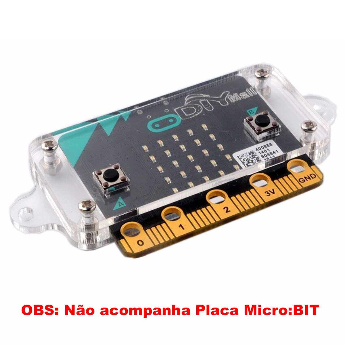 Case de Acrílico Transparente para Placa BBC Micro:bit