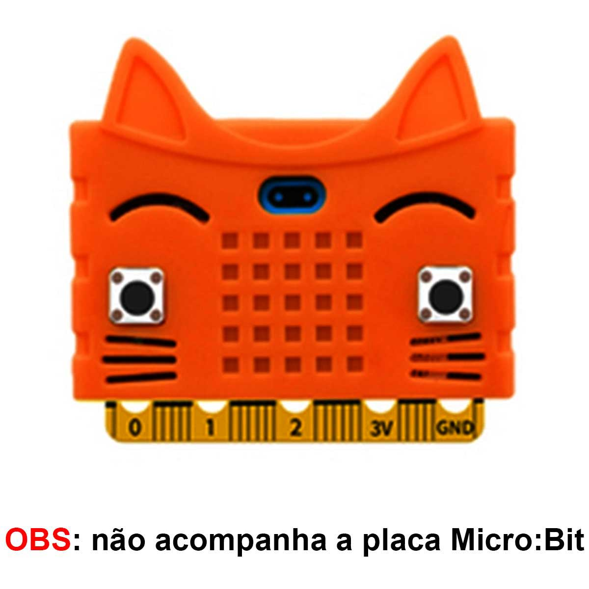 Case de Silicone Gato para proteger a Placa Micro:bit Microbit
