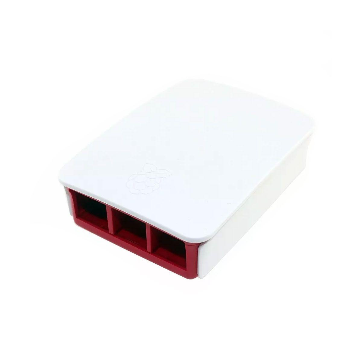 Case Oficial Raspberry Pi 3 | Vermelha e Branca