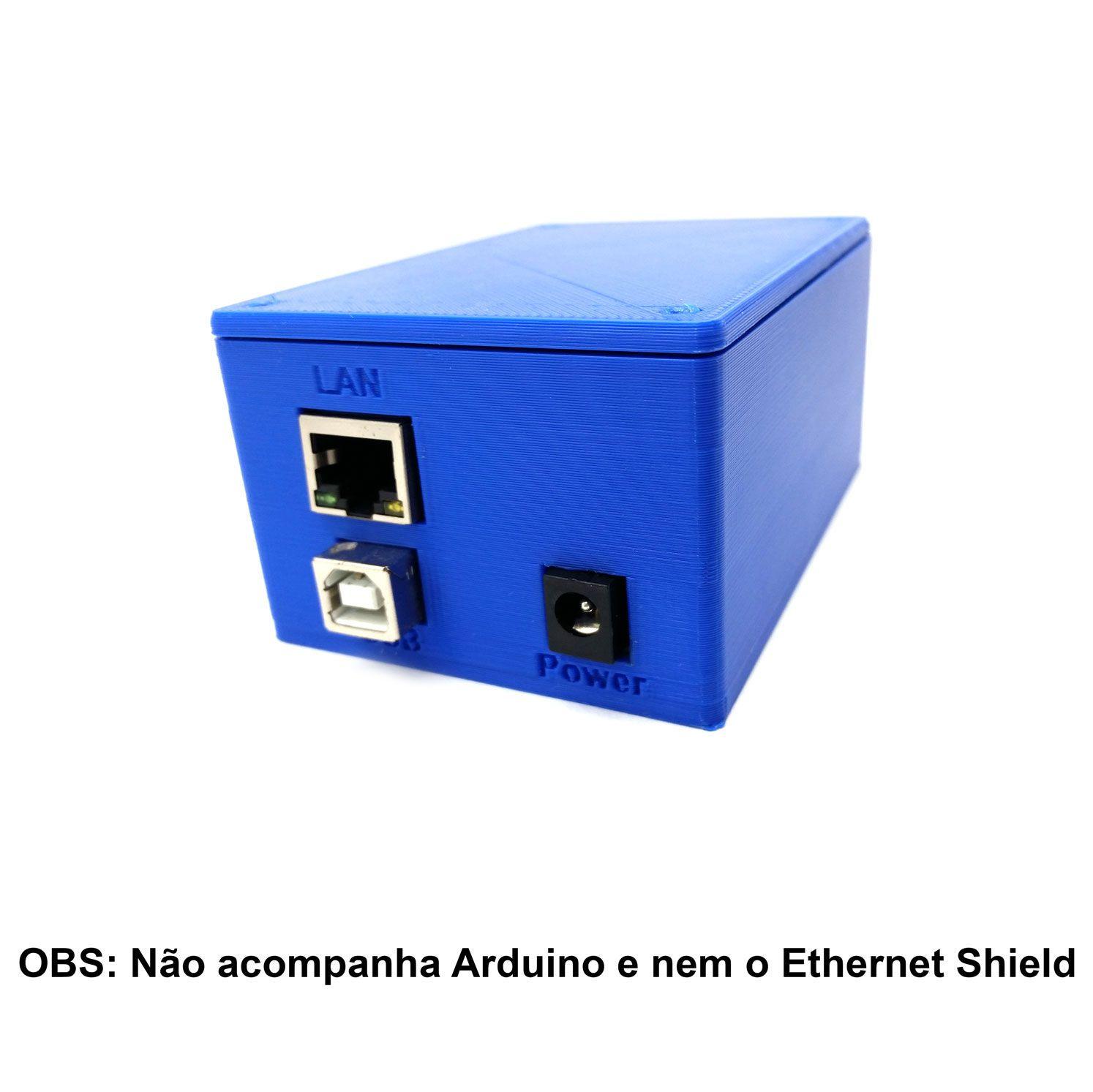 Case para Ethernet Shield W5100 e Arduino Uno