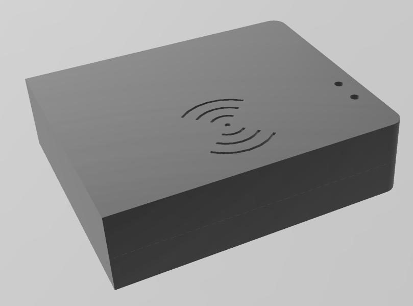 Case Personalizada Cor Preta para RFID, Ethernet e Arduino Nano