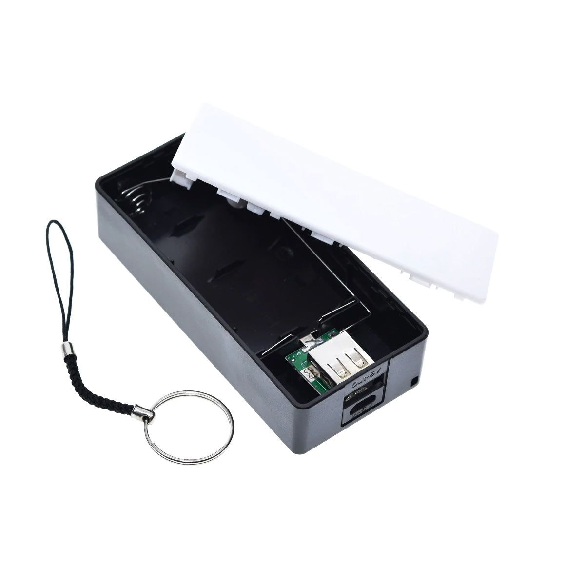 Case Power Bank USB para 2 Baterias 18650 - Não Acompanha Baterias