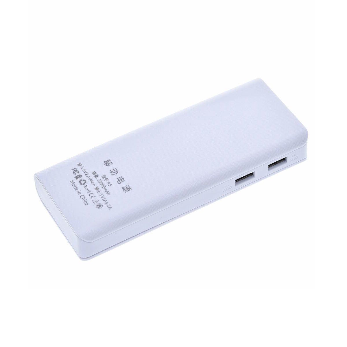Case Power Bank USB para 5 Baterias 18650 - Não Acompanha Baterias