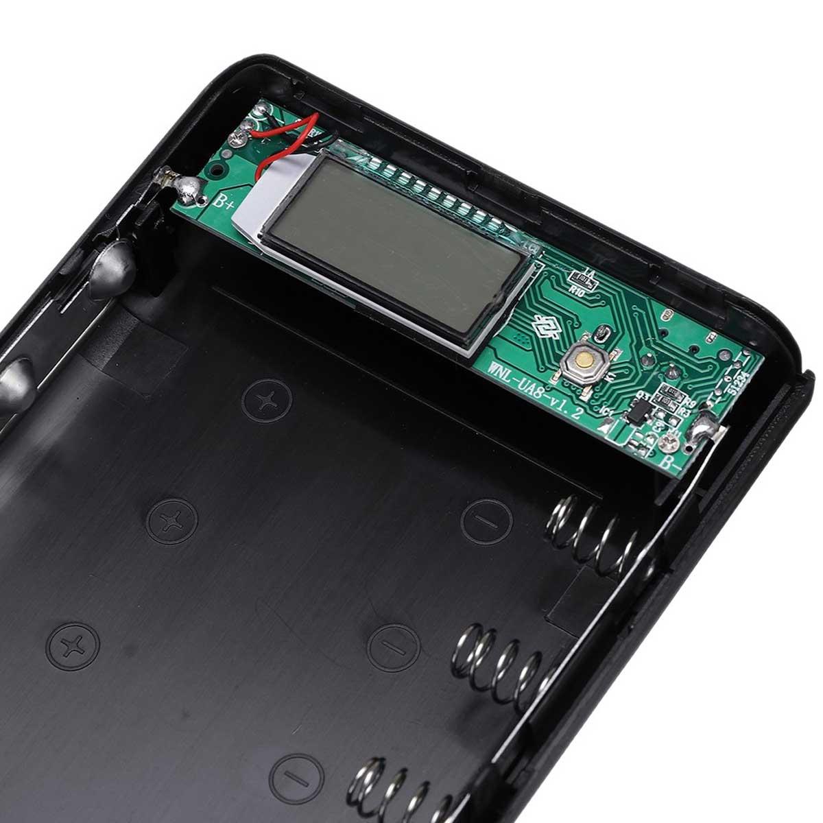 Case Power Bank USB para 8 Baterias 18650 - Não Acompanha Baterias